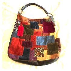 Spotted while shopping on Poshmark  Lucky Brand Velvet Patchwork Slouch  Hobo Handbag!  poshmark 66f4d40208
