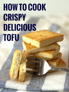 Not sure how to cook tofu? This step-by-step tutorial will have you cooking restaurant-worthy tofu that's deliciously crisp on the outside, while moist and tender on the inside. A few months ago, I r Veg Recipes, Vegetarian Recipes, Cooking Recipes, Healthy Recipes, Cooking Tofu, Vegetarian Options, Seafood Recipes, Asian Recipes, Recipies