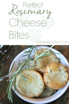 I don't know what makes these little rosemary cheese bites so addictive, but they totally are. Anytime I make a variation of this bread for guests, or take them to a party, they are G-O-N-E. I