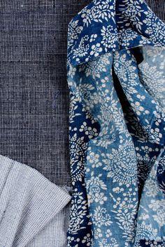 Vintage Chinese indigo fabrics, nankeen batik and homespun textiles   LuRu Home