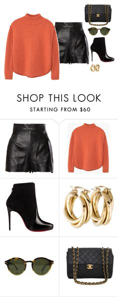 """Untitled #812"" by yurithisandthat ❤ liked on Polyvore featuring Moschino, MANGO, Christian Louboutin, Tom Ford and Chanel"