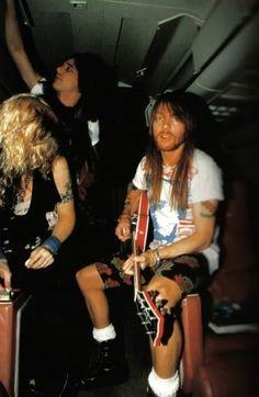 Duff, Gilby Clarke & Axl Rose