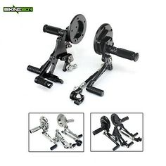 Chrome Foot Pegs Black Rubber Diamond Pegs for Harley Foot Pegs Driver Footpegs