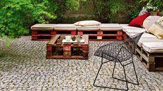 20 idées pour fabriquer un salon de jardin avec des palettes - Loisirs créatifs