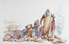 History: This is a picture Abraham leading the Jews to what is now Israel. He led the Jews there in 1800 B.C. To get to Israel Abraham and Moses parted the Sea which is now known as the Red Sea. Abraham led the Jews from Egypt where they were being held as slaves to Israel. The history of the Jewish people is very close to the history of the state of Israel.