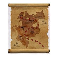 Pirate Map Throw Blanket on CafePress.com. Fleece 50 X 60 throw $43.95