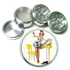 Vintage Retro Sexy Bridesmaid Party 4Pc Aluminum Grinder Pin Up Girl080 *** Learn more by visiting the image link.  This link participates in Amazon Service LLC Associates Program, a program designed to let participant earn advertising fees by advertising and linking to Amazon.com.