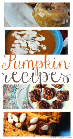 Delicious Pumpkin Recipes for Fall and Halloween! Perfect recipes for Fall
