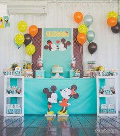 Adorable Mickey & Minnie Mouse birthday party! See more party planning ideas at CatchMyParty.com!