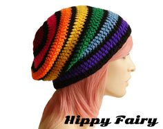 Hey, I found this really awesome Etsy listing at https://www.etsy.com/listing/166218389/rainbow-beanie-slouch-beanie-festival