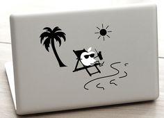 beach macbook decal hawaii macbook decal by dadavinylsanddesigns