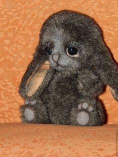Купить Кролик Муля - серый, зайка, заяц, кролик, крольчонок, оригинальный подарок, ручная работа