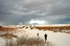 Ruuuun kids!-- White Sands National Monument (pinned by haw-creek.com)