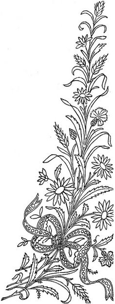 1886 Ingalls Daisy, Wheat Sprig w Bow by jeninemd, via Flickr