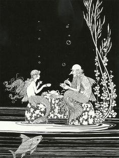 "zitterberg: "" Ida Rentoul Outhwaite (1888 – 1960), ""The Merman's Glass House"" illustration from ""The Little Fairy Sister""(1923) """