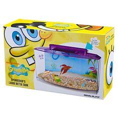 Aquário do Bob Esponja Kit Peixe Betta Nickelodeon - Meuamigopet.com.br #peixe #fish #sea #mar #ocean #oceano #meamigopet