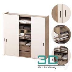 nice 134. Cupboard 3D model Download here: http://3dmili.com/furniture/wardrobe-display-cabinets/134-cupboard-3d-model.html