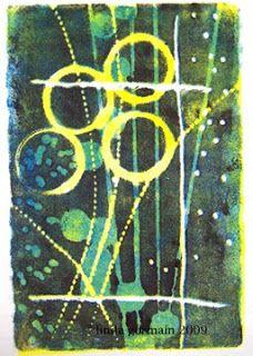Foam Plate Prints Today - Linda Germain