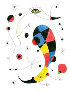 painting by joan miro Spanish Painters, Spanish Artists, Joan Miro Pinturas, Abstract Expressionism, Abstract Art, Abstract Landscape, Joan Miro Paintings, Jackson Pollock, Art Plastique