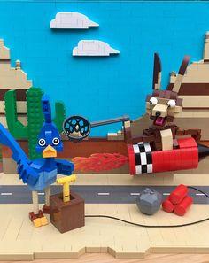 Bip Bip et Coyote (Wile and Road Runner) Lego Moc, Lego Duplo, Lego Ninjago, Lego Disney, Lego Juniors, Lego Jurassic World, Toy Story 3, Lego City
