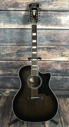 D'Angelico Right Handed Premier Fulton 12 String Acoustic El.- D'Angelico Right Handed Premier Fulton 12 String Acoustic Electric Guitar- Grey Black D& Right Handed Premier Fulton 12 String Acoustic Electric Guitar- Grey Black -