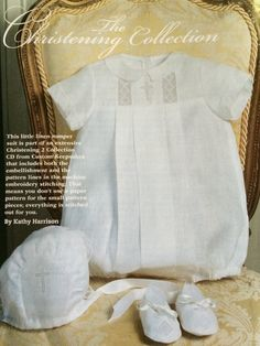 Baby boy christening set from Sew Beautiful issue #147.