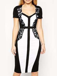 Graceful Lace Patchwork  With Zips Bodycon-dress Bodycon Dresses from fashionmia.com
