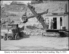 Quarry in Tully Limestone on road to Kings Ferry Landing May 5, 1931