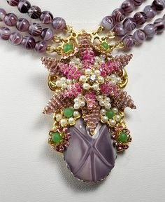 hagler jewelry | Mark Mercy for Stanley Hagler Floral Motif Necklace|Amazing Adornments ...