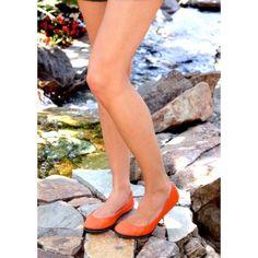 Love these bright tangerine Tieks!