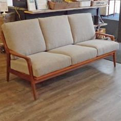 Mid Century African Teak Compact 3 Seater Sofa by Imperial - Vintage Home Boutique - 2