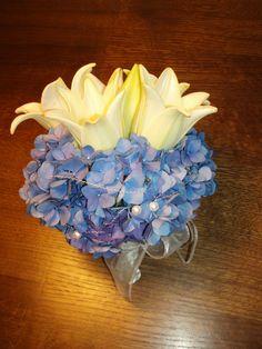 Nevěsta - hortenzie a lilie