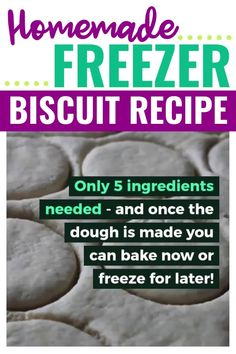 This biscuit recipe is a winner. It's quick, easy, inexpensive, and so practical. Best of all, you control what ingredients go in it, unlike canned biscuits that you buy at the store. Plus they freeze really well! #freezermeals #biscuitrecipe Freezer Biscuit Recipe, Homemade Freezer Biscuits, Best Biscuit Recipe, Canned Biscuits, Freezer Cooking, Bulk Cooking, Cooking Tips, Weekly Menu Planning, Money Saving Mom
