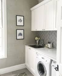 Image result for taupe and white laundry room