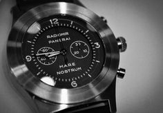 Panerai Mare Nostrum Titanio Cool Watches, Rolex Watches, Watches For Men, Swiss Watch, Fashion Watches, Cool Stuff, Diamond, Clocks, Men's Watches