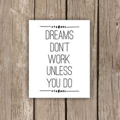Don T Wish For It Work Burlap Sign Art Print Motivational Office Decor Out Shabby Chic Style Pinterest