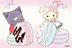 Sanrio Characters, Disney Characters, Sentimental Circus, Chibi Food, Pochacco, Cute Animal Drawings Kawaii, Pretty Drawings, Circus Party, Cute Chibi