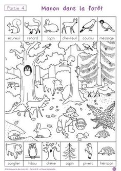 ten free printable pages to help children practice forest-related French vocab–very cute! ten free printable pages to help children practice forest-related French vocab–very cute! Hidden Picture Puzzles, French Classroom, Hidden Pictures, Hidden Objects, French Lessons, Teaching French, Preschool Worksheets, Learn French, New Words