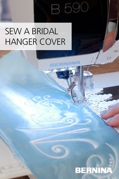 Something old, something new, something borrowed, something blue – that is how the saying goes, right? Check off the something new and something blue with a custom bridal hanger cover! The pattern allows you to adjust to any style or size of hanger, and it is a great way to add an elegant, homemade touch to any wedding. Find the full tutorial on the blog at weallsew.com. Bridal Hangers, Sewing, Cover, Dressmaking, Couture, Stitching, Sew, Costura, Needlework