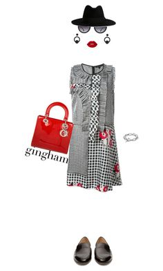 """""""Gingham"""" by misshonee ❤ liked on Polyvore featuring Marc Jacobs, Alice + Olivia, Christian Dior, David Yurman, Rebecca de Ravenel, Lime Crime and Yves Saint Laurent"""