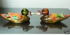Korean wedding ducks. They should always be together, facing each other. When they're apart, it means the couple is apart.