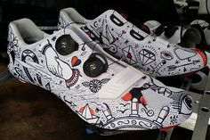 Bontrager is giving away three pair of custom designed cycling shoes during the Giro