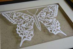 Mr Butterfly papercut