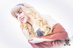 Aurora or Briar rose from the sleeping beauty disney princess. Peasent dress cosplay / costume by Vestara Ivana.