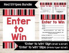 Enter To Win  Door Prize  Drawing Slip  Raffle Ticket