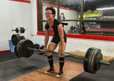 Lodrina Cherne, who weighs 123 pounds, deadlifts 365 pounds. Cherne set an American deadlift record at a recent competition and will be competing in an international meet in Finland this spring. (Liane Brandon)