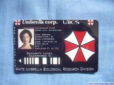 Umbrella Corporation ID Card Resident Evil #Halloween