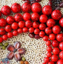 Free shipping 4.6.8.10mm natural red turquoise bead necklace bracelet / necklace / jewelry making wholesale(China (Mainland))