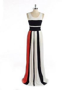 Colorblocked Maxi Dress   Lord and Taylor