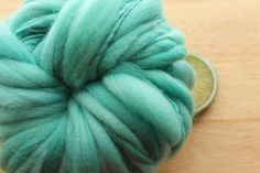 Caribbean Bay  Handspun Wool Yarn Turquoise Cream by thefinelime